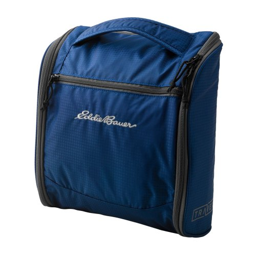 Eddie Bauer Unisex-Adult Travex® Expedition Hanging Kit Bag, Sapphire Onesze front-352406