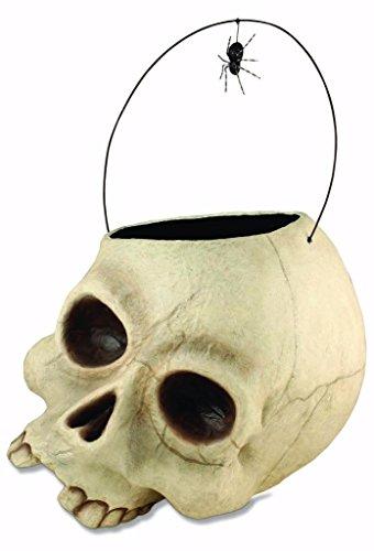 Bethany Lowe Spooky Halloween Skelly Skull Candy Bucket Holder