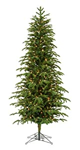 #!Cheap Barcana Slim Star Fir Ready Trim Christmas Tree with Clear Mini Lights