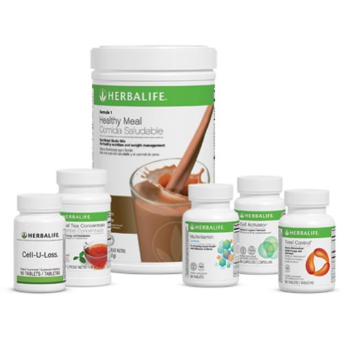 Herbalife Advanced Program - Formula 1 Healthy Meal Nutritional Shake Mix, Piña Colada; Formula 2 Multivitamin Complex; Formula 3 Cell Activator®; Herbal Tea Concentrate, Original, 50 G; Total Control®; Cell-U-Loss®