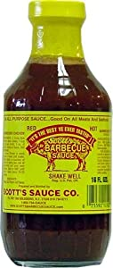 Scotts Spicy Bbq Sauce - Fat And Sugar Free Barbecue Sauce 16 Fl Oz Pack Of 2 by Scott's Sauce Company