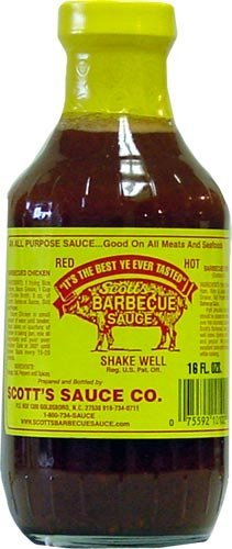 Scott'S Spicy BBQ Sauce - Fat And Sugar Free Barbecue Sauce, 16 Fl Oz (Pack Of 2)