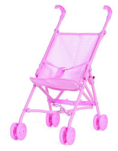 Cute Baby Doll Stroller - Pink front-36202