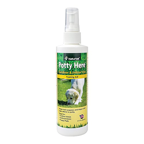 NaturVet Potty Here Training Aid Spray for Puppies and Dogs, 8 oz Liquid , Made in USA (Pet Potty Training Spray compare prices)
