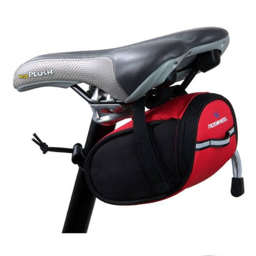 Okeler 2013 New Red Mini Cycling Bicycle Bike Saddle Outdoor Pouch Under Seat Black Bag With Free Pen front-183410