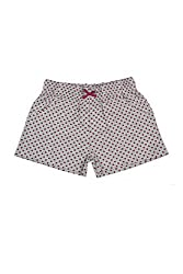 Poppers by Pantaloons Girl's Cotton Shorts (205000005661863, Grey, 9-10 Years)