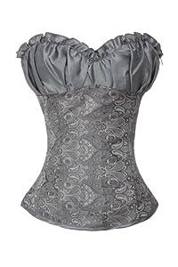 Corset Buy Women's Princess Polyester with Satin Overbust Corset