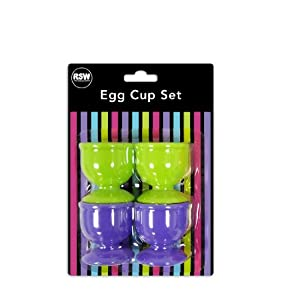 """""""Brights"""" Pack of 4 Egg Cups in 2 Assorted Bright Colours"""