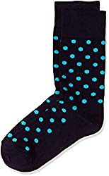 Happy Socks Men's Calf Socks (8904214909284_DO01-606_Large_Blue)