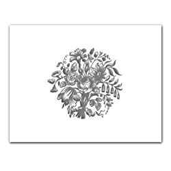 Platinum Bouquet Embossed - Gift Enclosure Cards (set of 12)