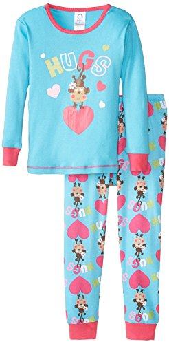 Gerber Little Girls' 2 Piece Cotton Pajama, Monkey, 3T