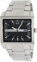 Armani Exchange Mens Stainless Steel Rectangular W
