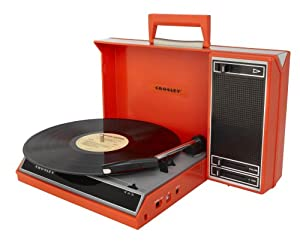 Crosley CR6016A-RE Spinnerette Portable 3-Speed Turntable with Software Suite for Ripping and Editing Audio (Red)