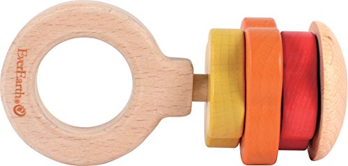 EverEarth Wooden Shapes Rattle Toy EE33585