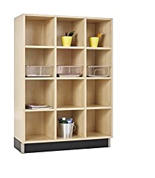 Diversified Woodcrafts CC-3615-51M Cubby Cabinet, 12 Equal Openings, 51\