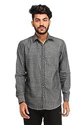 Snoby grey plain Khadi shirt SBY8073
