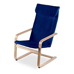 Poltrona molleggiata sedia dondolo sdraio relax colore for Sedie blu cucina