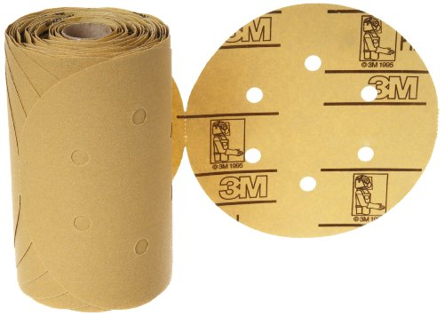 "3M Stikit Paper D/F Disc Roll 236U, Psa Attachment, Aluminum Oxide, 6"" Diameter, P120 Grit (Roll Of 100)"