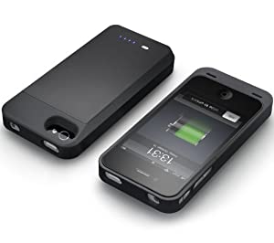 New Trent Power Rock Case with Extended Rechargeable Battery Juice Case 2100mAh for iPhone 4S and iPhone 4 (IMP210B/NT210B)