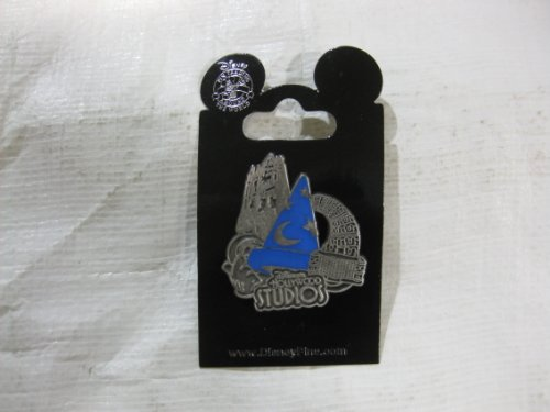 Disney Pin Silver Hollywood Studios with Blue Sorcerer Hat