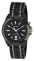 Hot Sale Seiko Men's SNQ121 Two Tone Stainless Steel Analog with Black Dial Watch