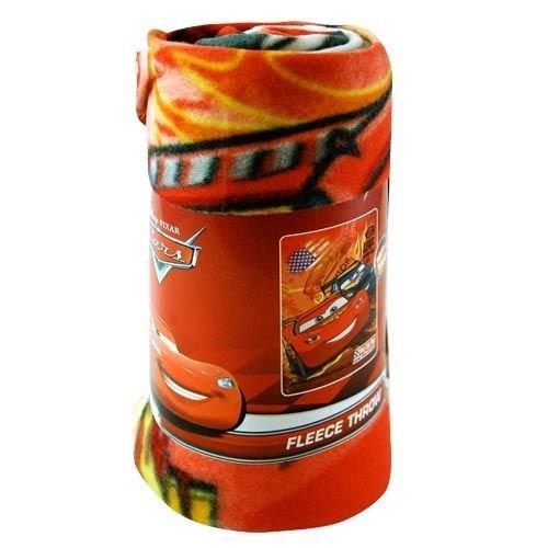 """Disney Cars Lightning Mcqueen Racing Team Fleece Blanket 45"""" X 60"""" And One Bonus Gift Set front-44641"""