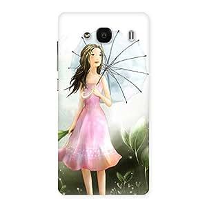 Stylish Umbrella Princess Multicolor Back Case Cover for Redmi 2s