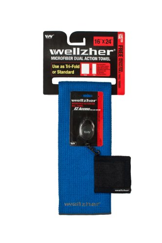 wellzher-premium-microfiber-dual-action-golf-towel-16x24-with-free-retractable-golf-ball-towel-royal