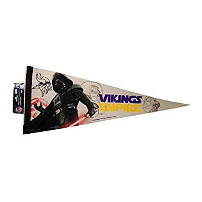 Minnesota Vikings Official NFL 30 inch Star Wars Darth Vader Premium Pennant by Wincraft 389619
