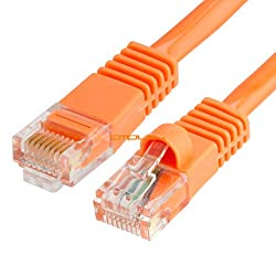 Cmple - RJ45 CAT5 CAT5E ETHERNET LAN NETWORK CABLE -150 FT Orange