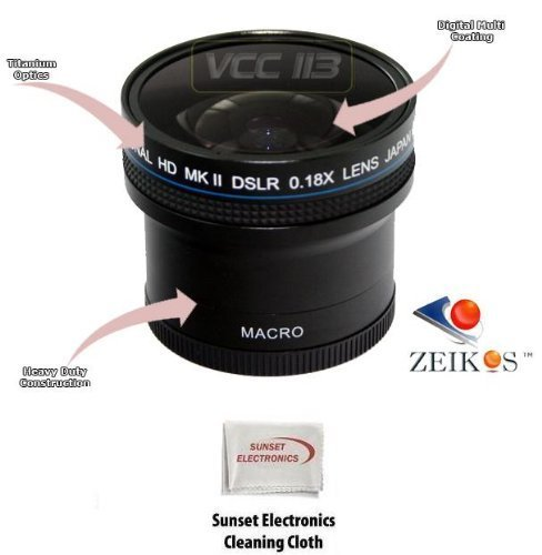 0.18x Wide Angle Fisheye Lens With Macro lens For The Kodak Easyshare P880, Digital Camera Tube Adapter Included