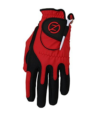 Zero Discord Men's Golf Gloves, Left Hand, One Size, Red Color: Red Size: One Size Model: ZF-ACGOGLOV-M-RD (Metal goods & Tools Store)