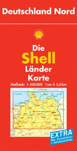 Shell Länderkarte Deutschland Nord. 1 : 500