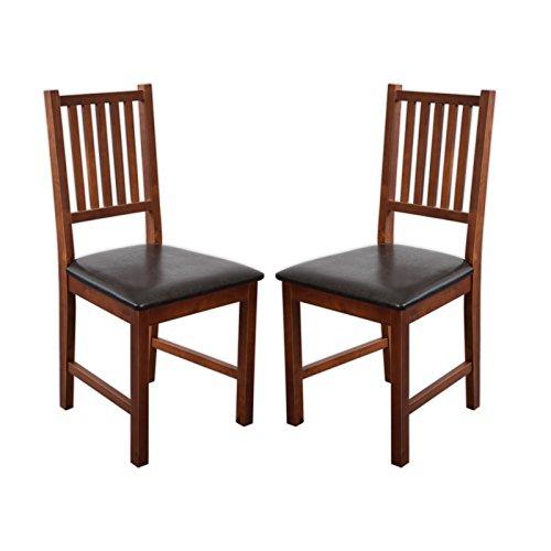 2 x Stuhl LUCCA Birke massiv in Nussbaum gebeizt Esszimmerstuhl Küchenstuhl – Top Qualität! Perfekt für privat und Restaurants!