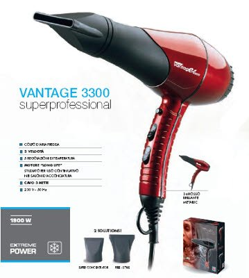 VANTAGE 3300 PHON MUSTER SUPERPROFESSIONAL 1900W (ROSSO)