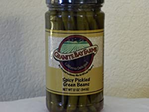 Spicy Picked Green Beans 12oz from Granite Bay Farms Specialty Foods