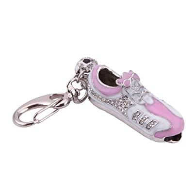 HDE® White/Pink Sneaker with Gems Flashdrive Keychain - 4GB by HDE
