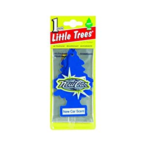 little trees hanging car and home air freshener new car scent automotive. Black Bedroom Furniture Sets. Home Design Ideas