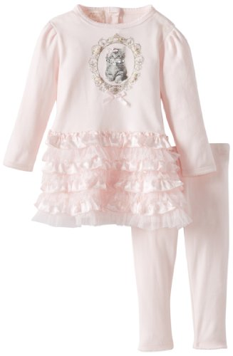 Review Biscotti Baby-Girls Infant Meow Meow Dress and Legging, Pink, 24 Months  Best Offer