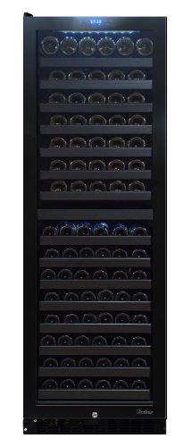 Vinotemp 142-Bottle Dual-Zone Touch Screen Wine Cooler, Left Hinge