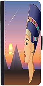 Snoogg Nefertiti And Giza Vector Graphic Snap On Hard Back Leather + Pc Flip ...