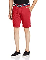 Superdry Men's Cotton Shorts (5054265260995_M71MT003F2_Small_Bright Red)