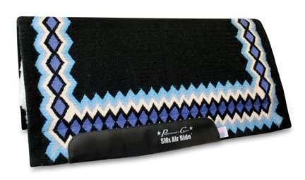 Professionals Choice 34X36 Equine Smx Air-Ride Shilloh Saddle Pad (Black/Turquoise) (Professional Choice Saddle Pad compare prices)