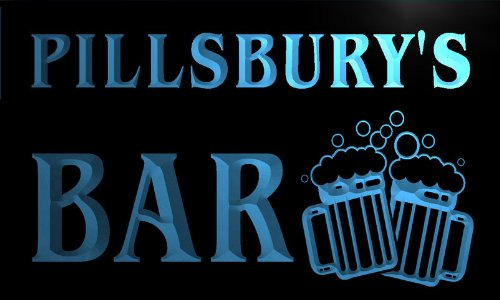 w013180-b-pillsburys-nom-accueil-bar-pub-beer-mugs-cheers-neon-sign-biere-enseigne-lumineuse