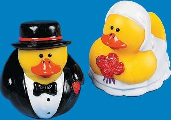 1 Dozen Bride & Groom Rubber Duckies (6 sets) - Buy 1 Dozen Bride & Groom Rubber Duckies (6 sets) - Purchase 1 Dozen Bride & Groom Rubber Duckies (6 sets) (RubberDuckyDepot.com, Toys & Games,Categories,Activities & Amusements,Bath Toys)