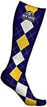 New Haven Chargers Socks Argyle Design pair