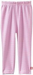 Zutano Baby Girls\' Candy Stripe Skinny Legging, Hot Pink, 24 Months