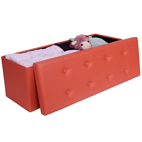 Songmics 43 3 Quot Collapsible Foldable Ottoman Storage Bench
