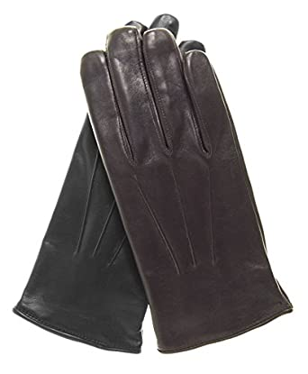 Fratelli Orsini Everyday Men's Italian Lambskin Cashmere Lined Winter Leather Gloves Size XL Color Brown