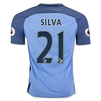 MANCHESTER CITY 16/17 Home Soccer Jersey SILVA 21 Men's Color Blue Size L